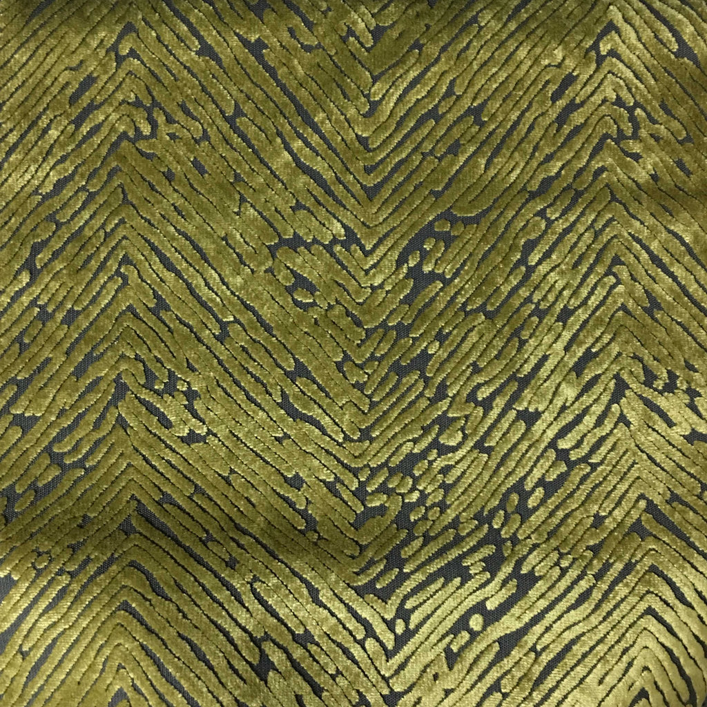Kentish - Burnout Velvet Fabric Drapery & Upholstery Fabric by the Yard - Available in 8 Colors - Palm - Top Fabric - 5