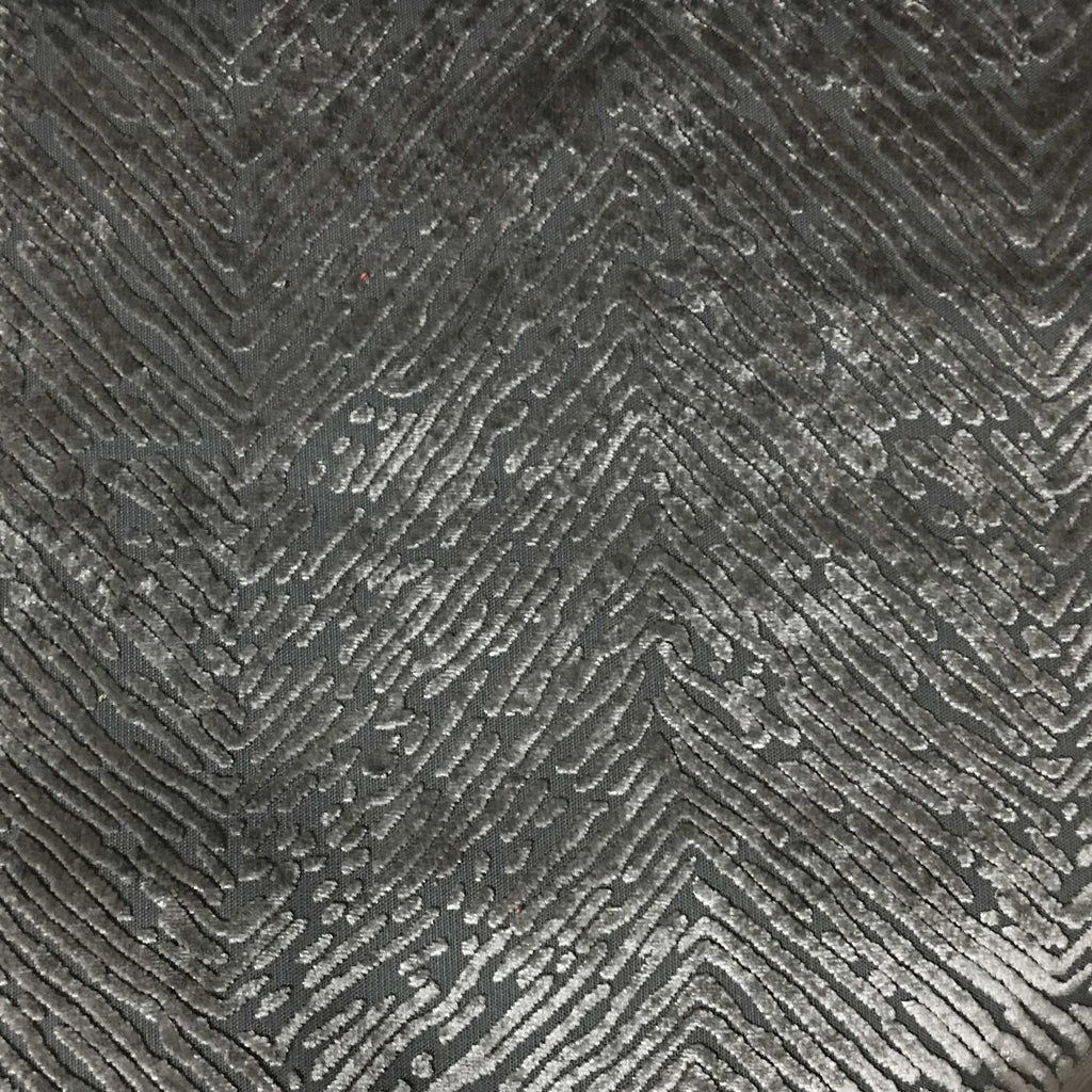 Kentish - Burnout Velvet Fabric Drapery & Upholstery Fabric by the Yard - Available in 8 Colors - Steel - Top Fabric - 3