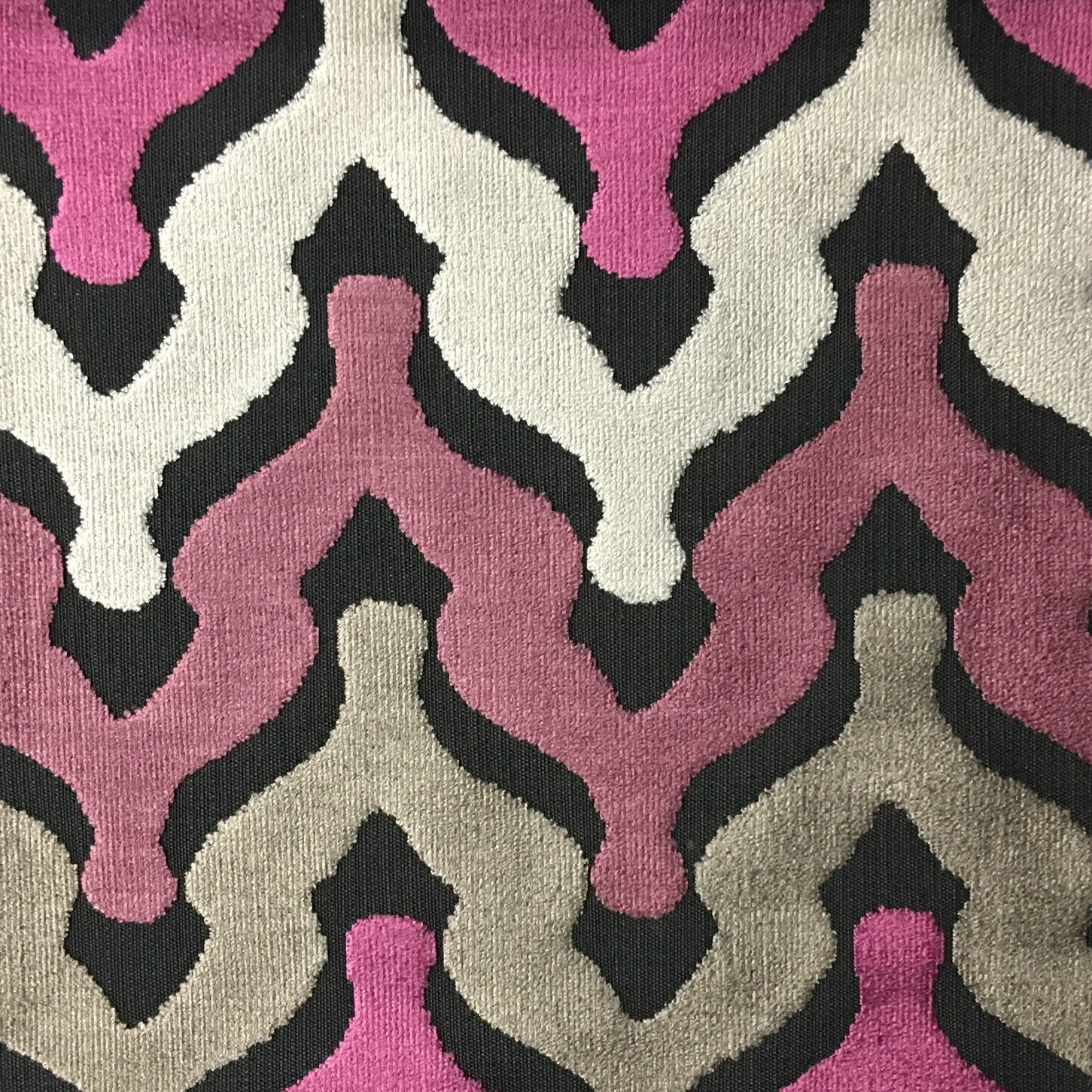 Chevron print fabric by the yard -  Leicester Cut Velvet Fabric Drapery Upholstery Fabric By The Yard Available In 13