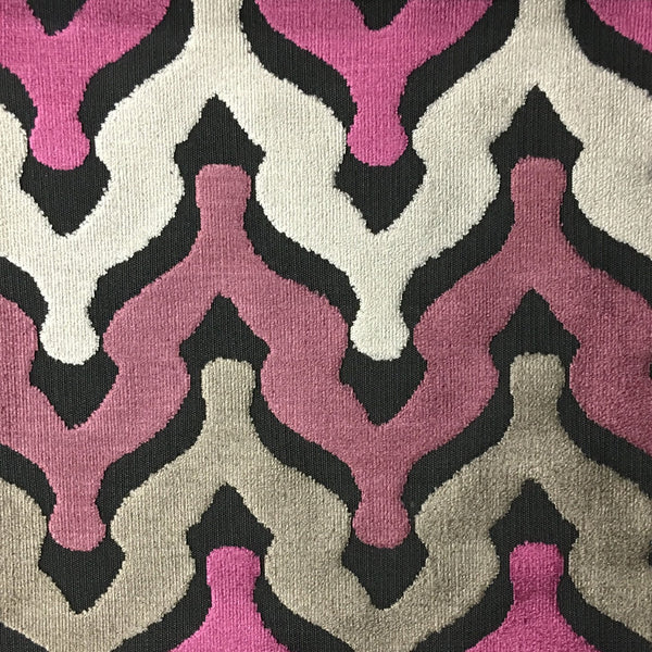Leicester - Cut Velvet Fabric Drapery & Upholstery Fabric by the Yard - Available in 13 Colors - Zinc - Top Fabric - 1