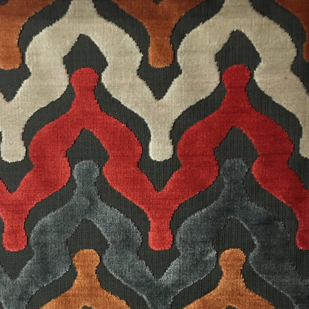 Leicester - Cut Velvet Fabric Drapery & Upholstery Fabric by the Yard - Available in 13 Colors - Atomic - Top Fabric - 3