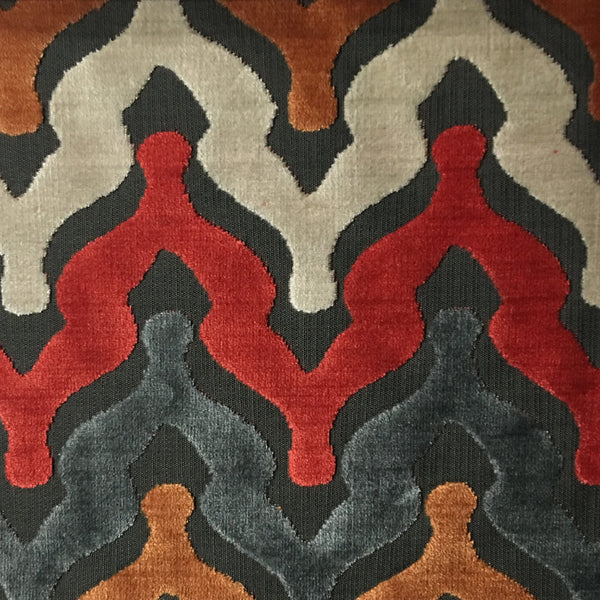 leicester bold chevron cut velvet upholstery fabric by the yard. Black Bedroom Furniture Sets. Home Design Ideas