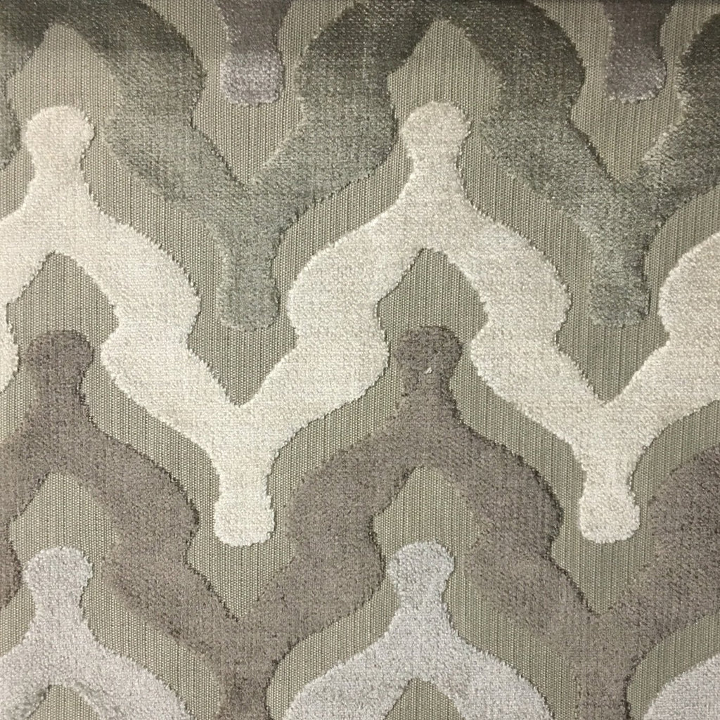 Leicester - Cut Velvet Fabric Drapery & Upholstery Fabric by the Yard - Available in 13 Colors - Beach - Top Fabric - 11