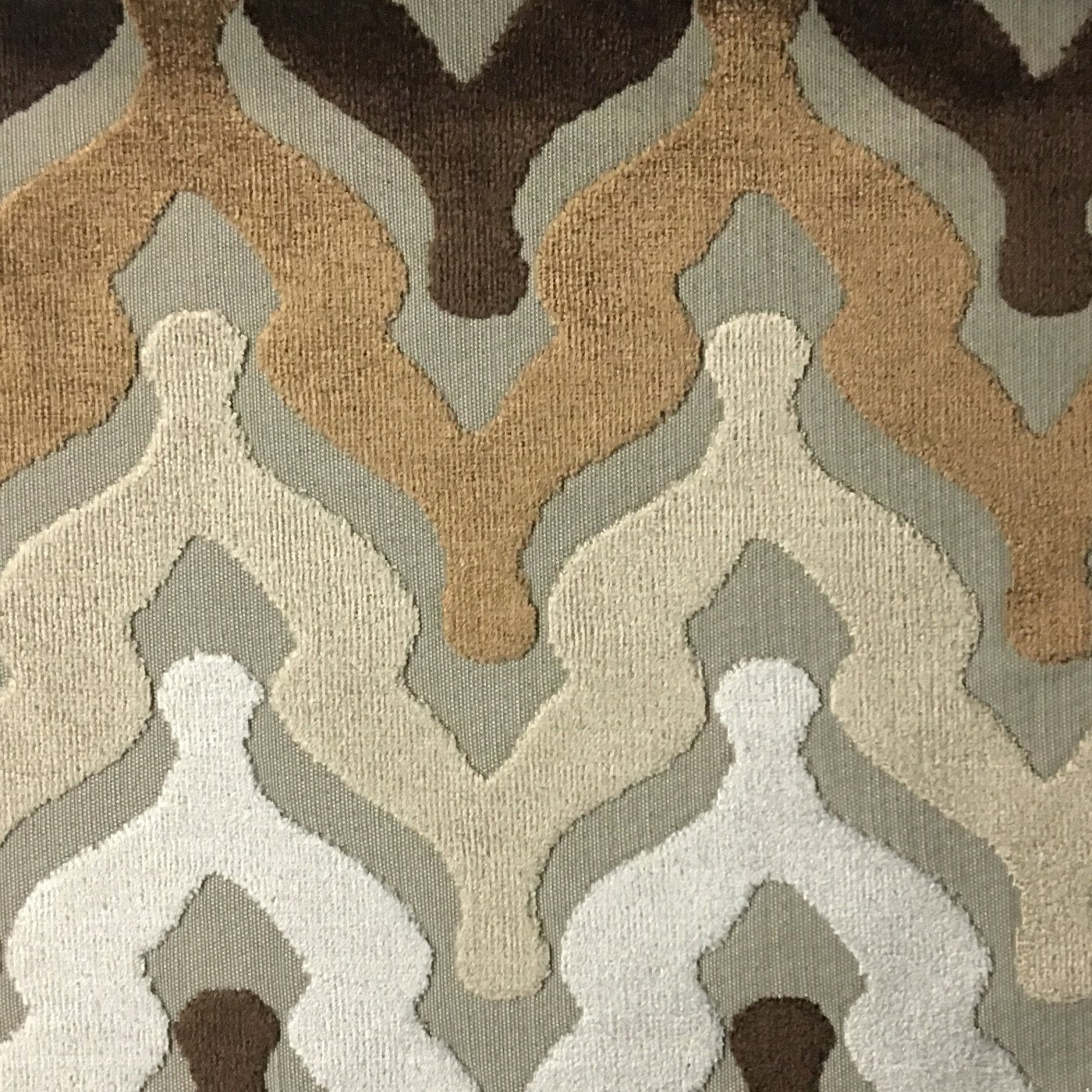 Leicester bold chevron cut velvet upholstery fabric by for Upholstery fabric for sale