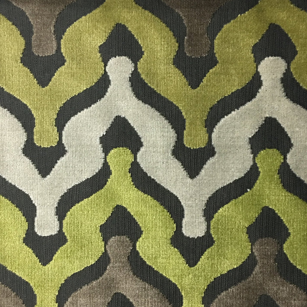 Leicester - Cut Velvet Fabric Drapery & Upholstery Fabric by the Yard - Available in 13 Colors - Grass - Top Fabric - 6