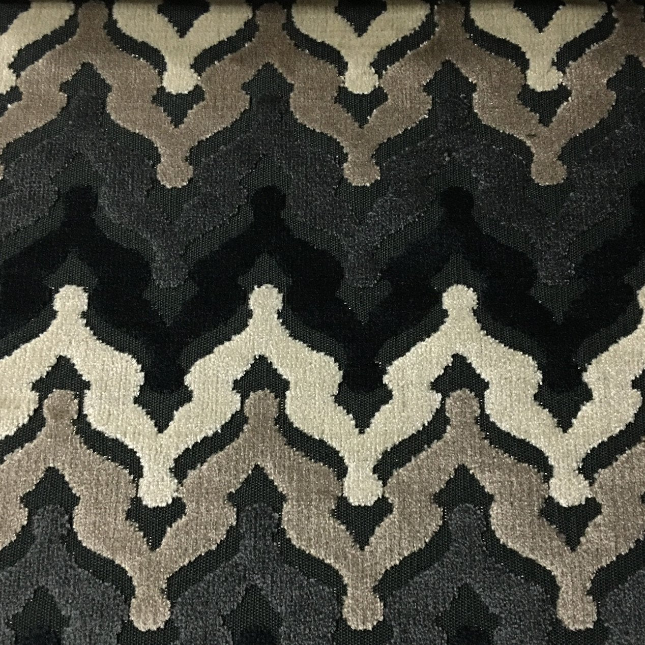 home decor fabric chevron lennon chevron pattern cut velvet upholstery fabric by 10978