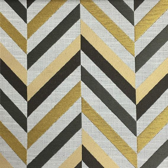 Leyton - Jacquard Fabric Designer Pattern Home Decor Drapery & Pillow Fabric by the Yard - Available in 8 Colors - Golden - Top Fabric - 2