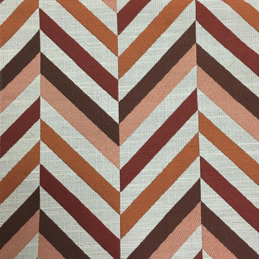 Leyton - Jacquard Fabric Designer Pattern Home Decor Drapery & Pillow Fabric by the Yard - Available in 8 Colors - Sunset - Top Fabric - 7