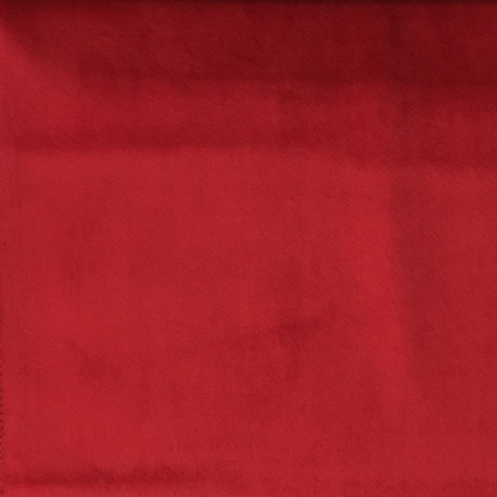 Liberty - Ultra Plush Microvelvet Fabric Upholstery Velvet Fabric by the Yard - Available in 38 Colors - Scarlet - Top Fabric - 33
