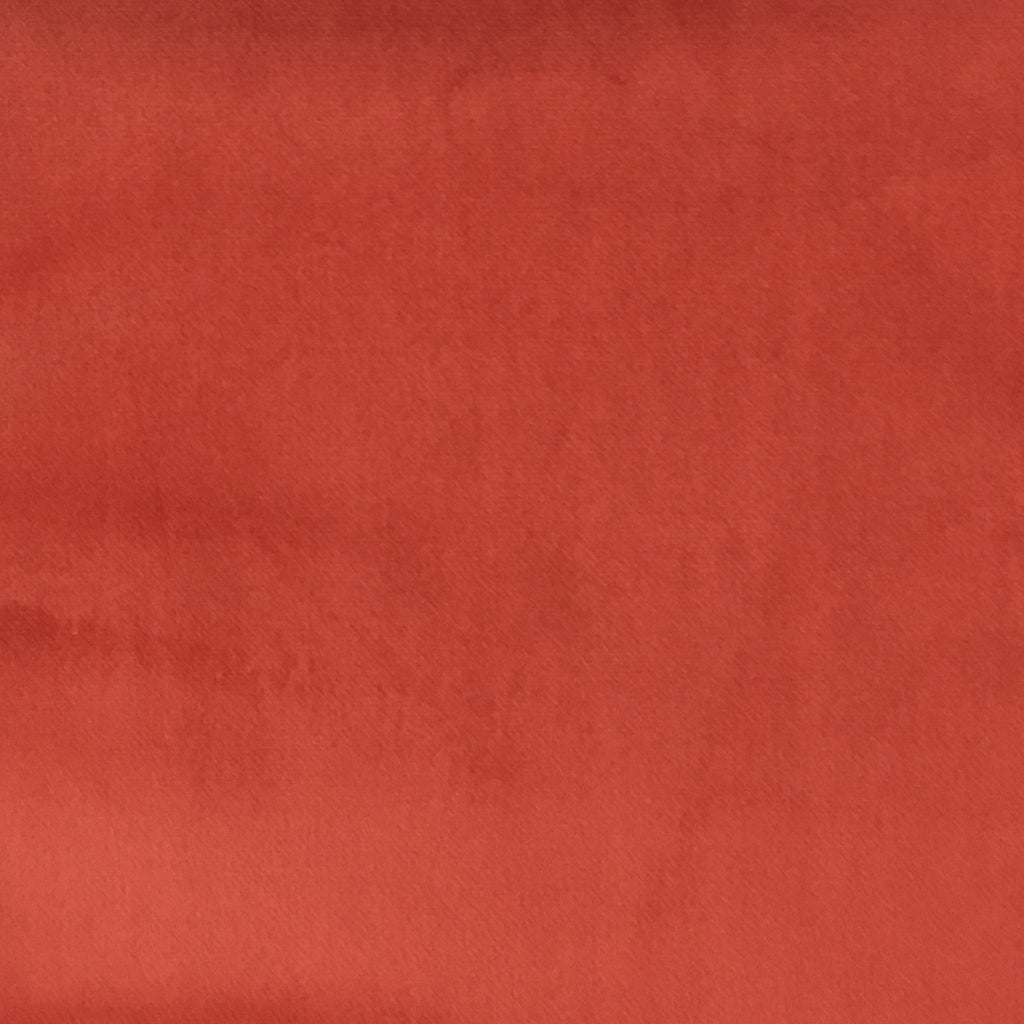 Liberty - Ultra Plush Microvelvet Fabric Upholstery Velvet Fabric by the Yard - Available in 38 Colors - Persimmon - Top Fabric - 34