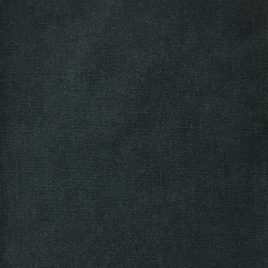 Lido - Cotton Canvas Upholstery Fabric by the Yard - Available in 16 Colors - Midnight - Top Fabric - 12