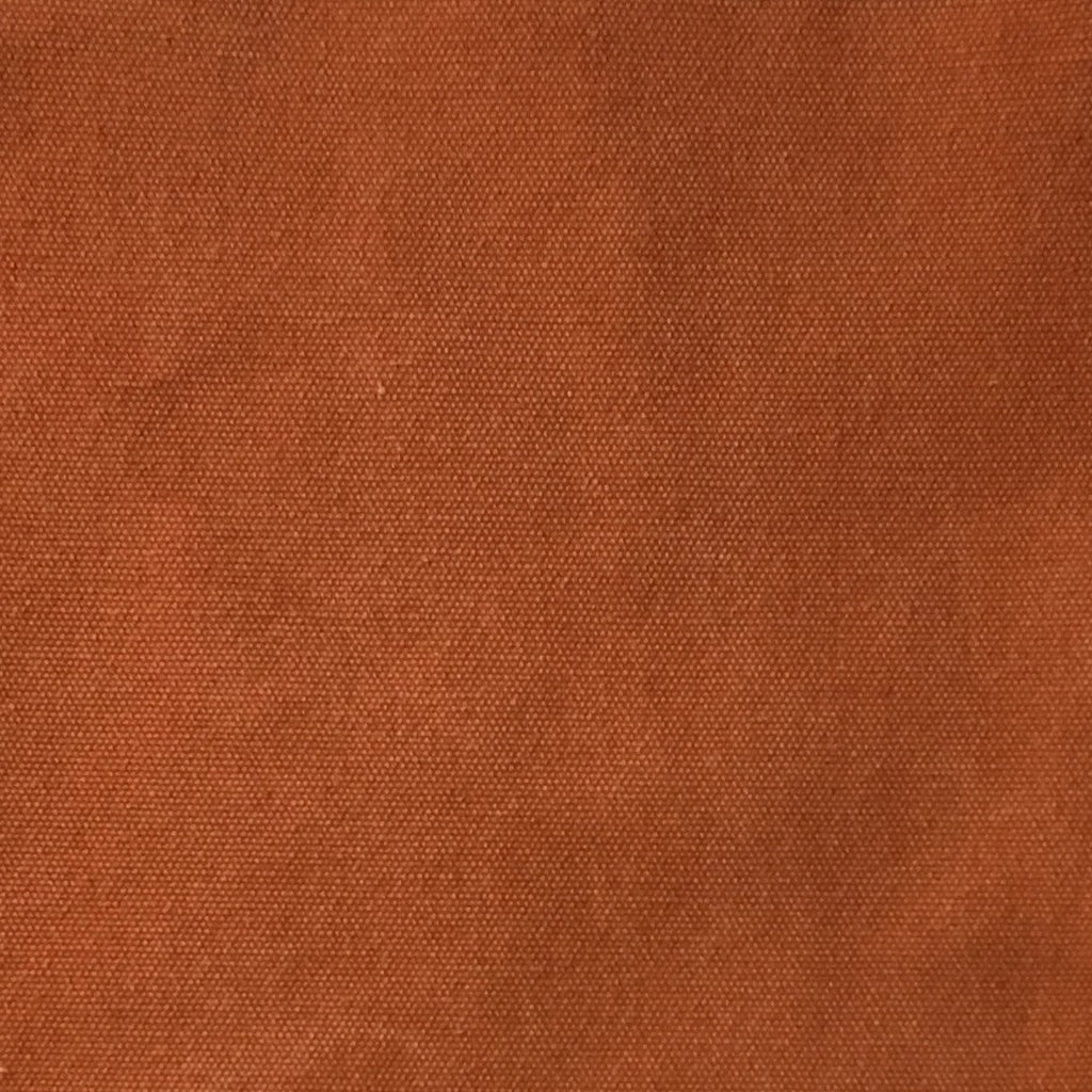 Lido - Cotton Canvas Upholstery Fabric by the Yard - Available in 16 Colors - Pumpkin - Top Fabric - 3