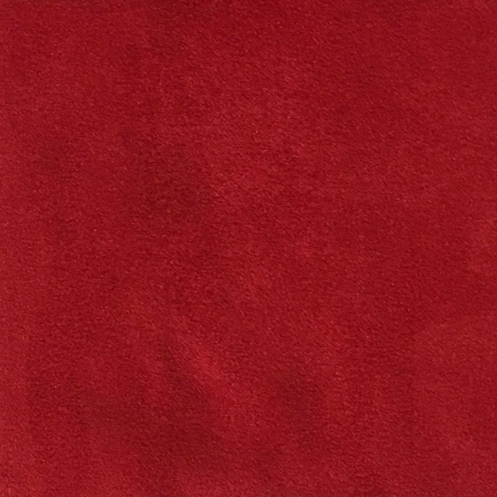 Light Suede - Microsuede Fabric by the Yard - Available in 30 Colors - Chinese Red - Top Fabric - 22