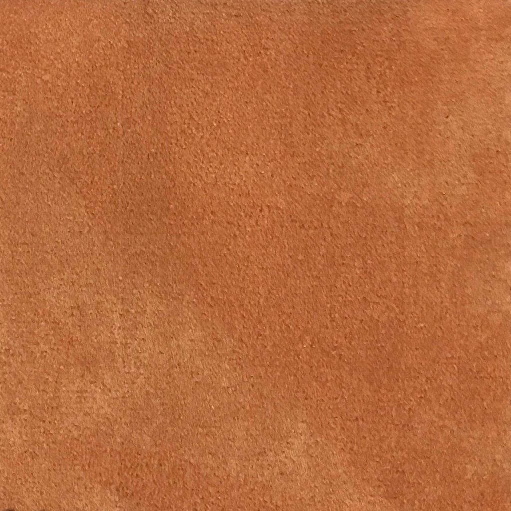 Light Suede - Microsuede Fabric by the Yard - Available in 30 Colors - Pumpkin - Top Fabric - 30
