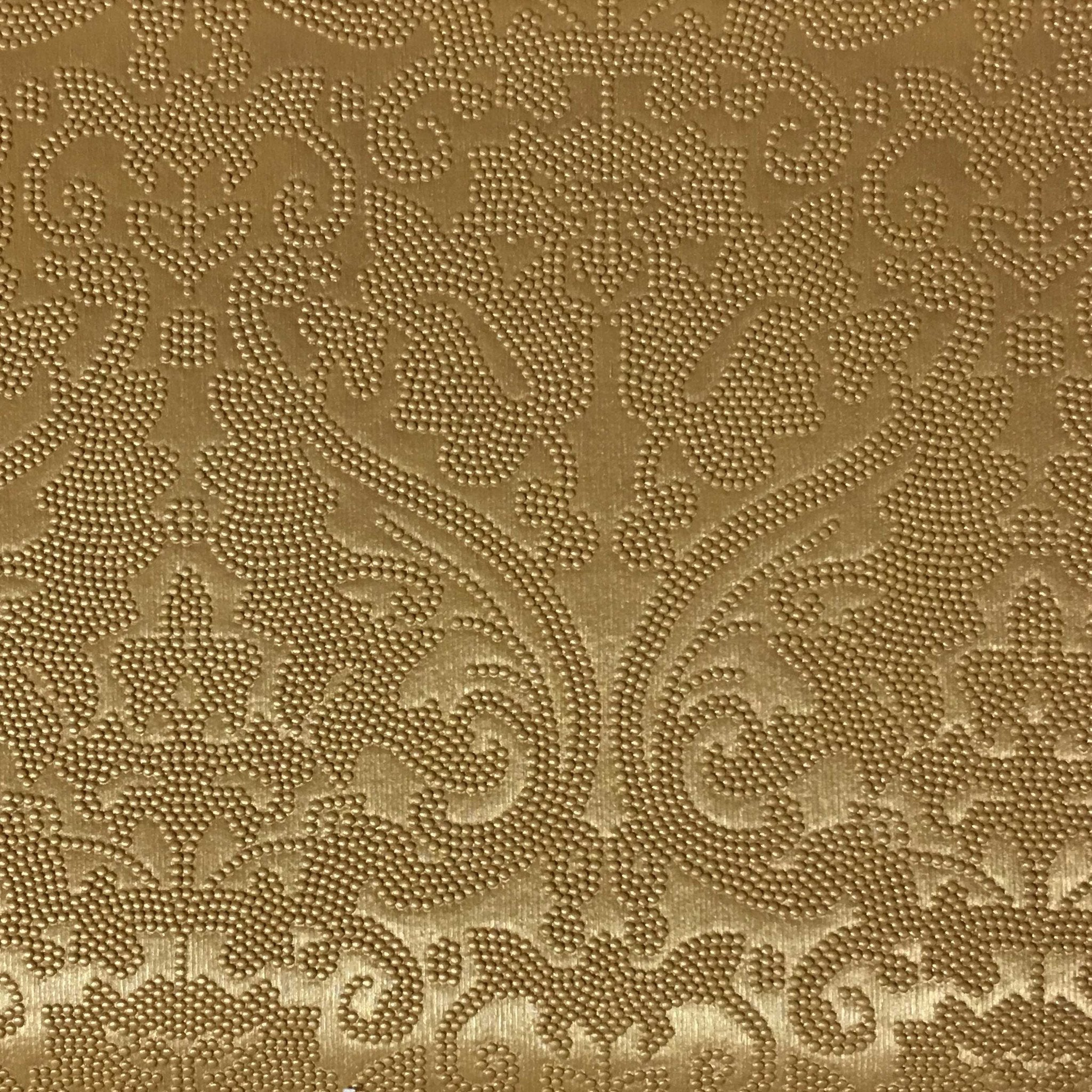 Lyon damask vinyl fabric designer pattern vinyl for Upholstery fabric