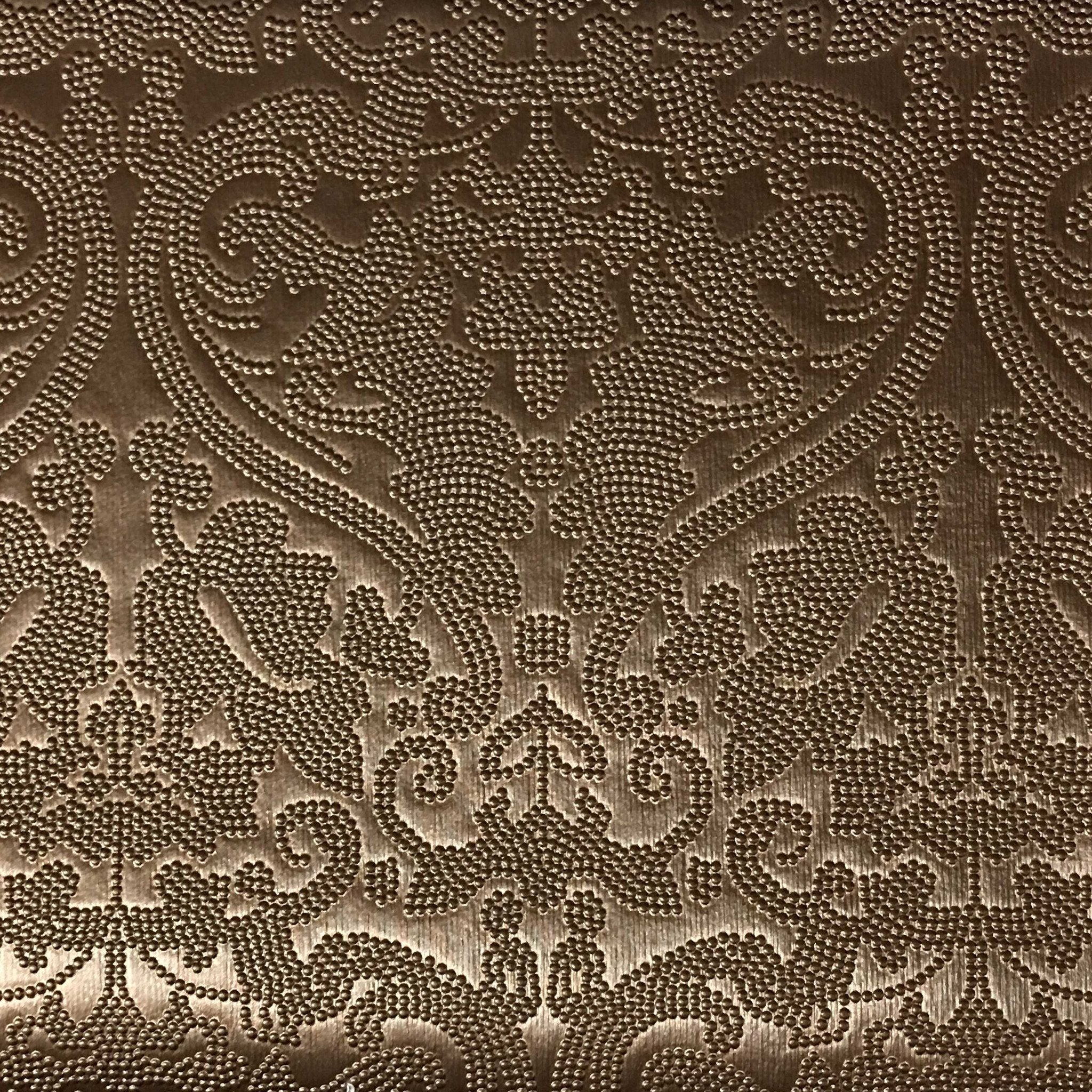 Lyon embossed damask pattern vinyl upholstery fabric by for Fabric pattern