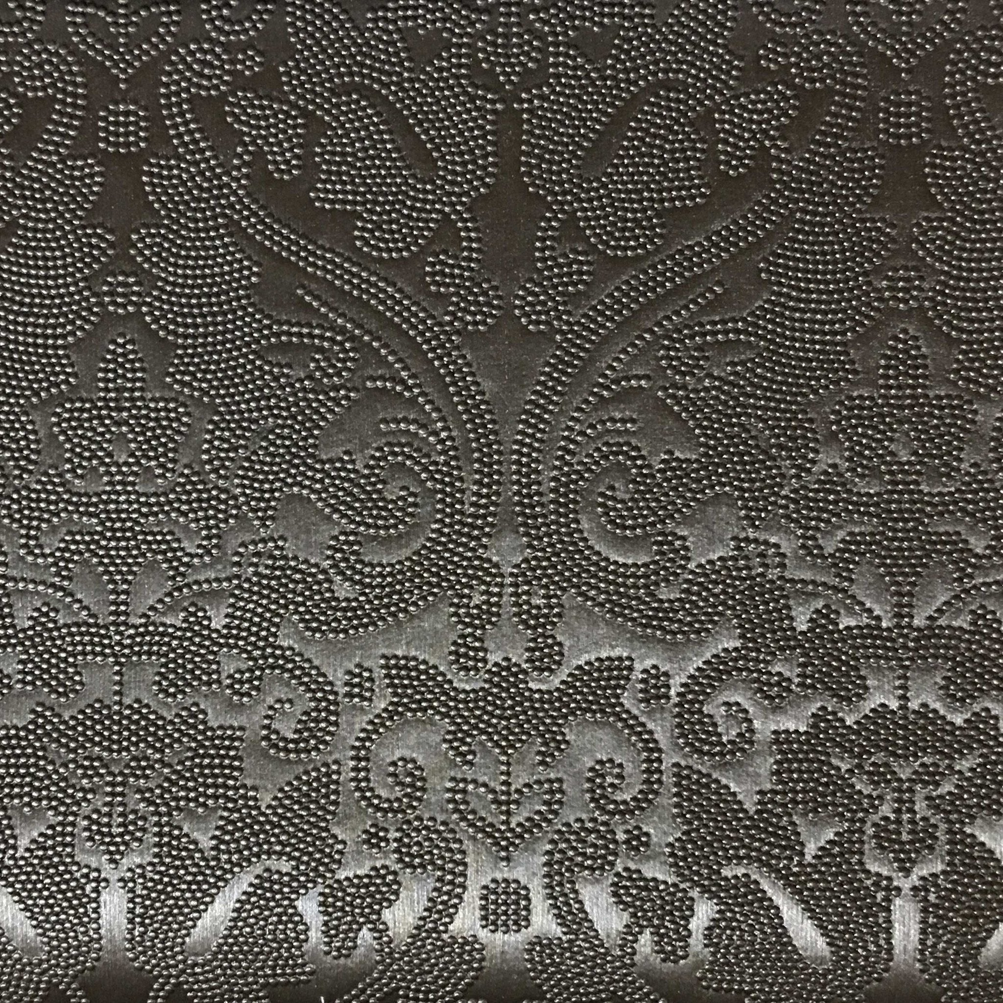 Lyon embossed damask pattern vinyl upholstery fabric by for Home decorating fabric by the yard