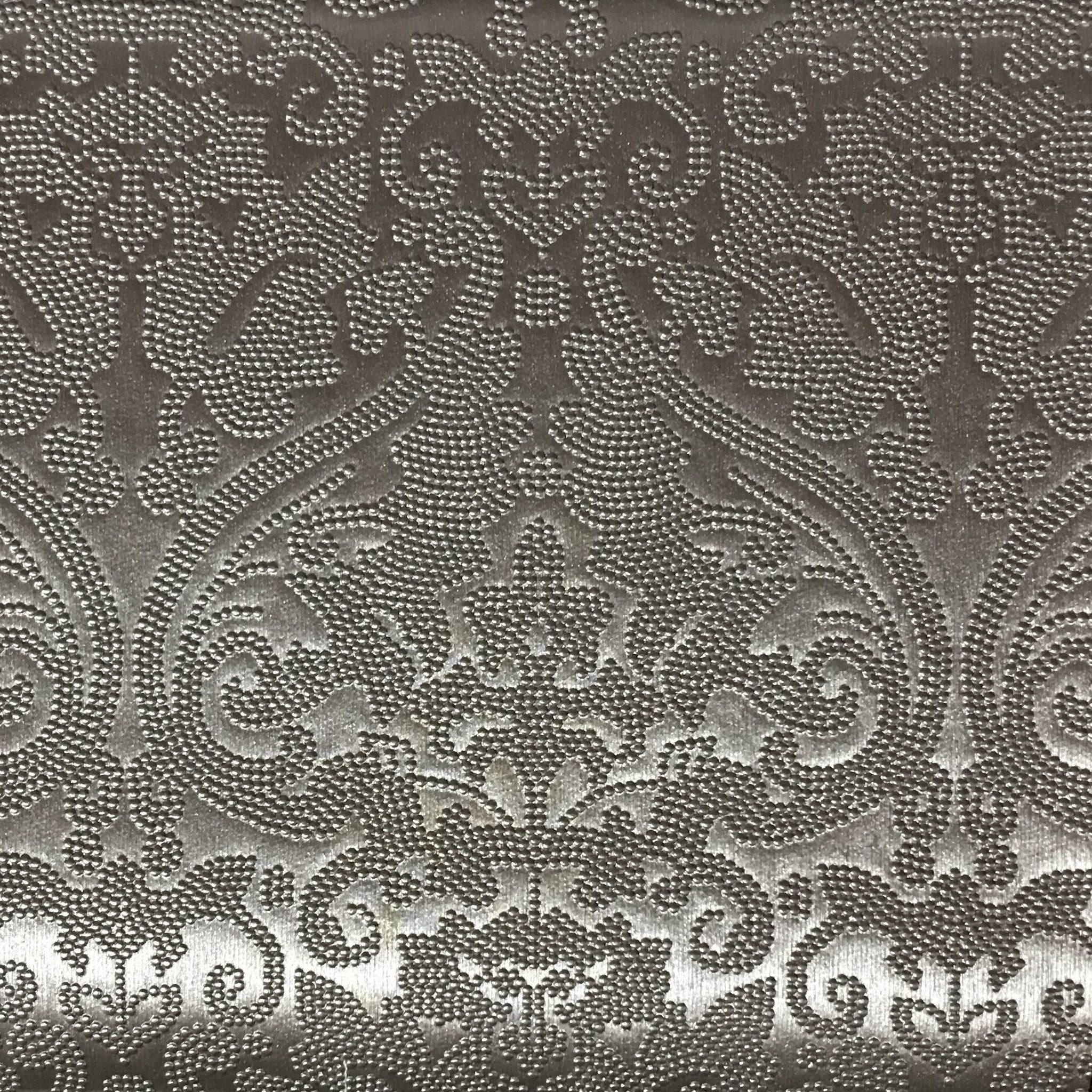 Lyon Embossed Damask Pattern Vinyl Upholstery Fabric By