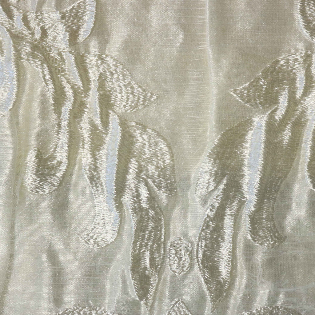 "Mandeville - 110"" Organza Fabric Window Curtain Drapery Fabric"