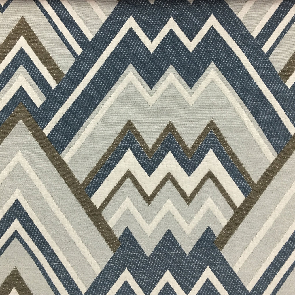 Mesa - Mixed Construction Geometric Pattern Cotton Blend Upholstery Fabric by the Yard - Available in 8 Colors - Carnival - Top Fabric - 8