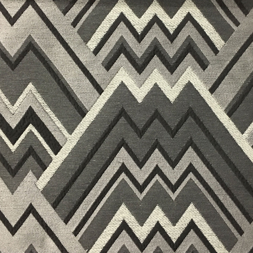 Mesa - Mixed Construction Geometric Pattern Cotton Blend Upholstery Fabric by the Yard - Available in 8 Colors - Driftwood - Top Fabric - 7