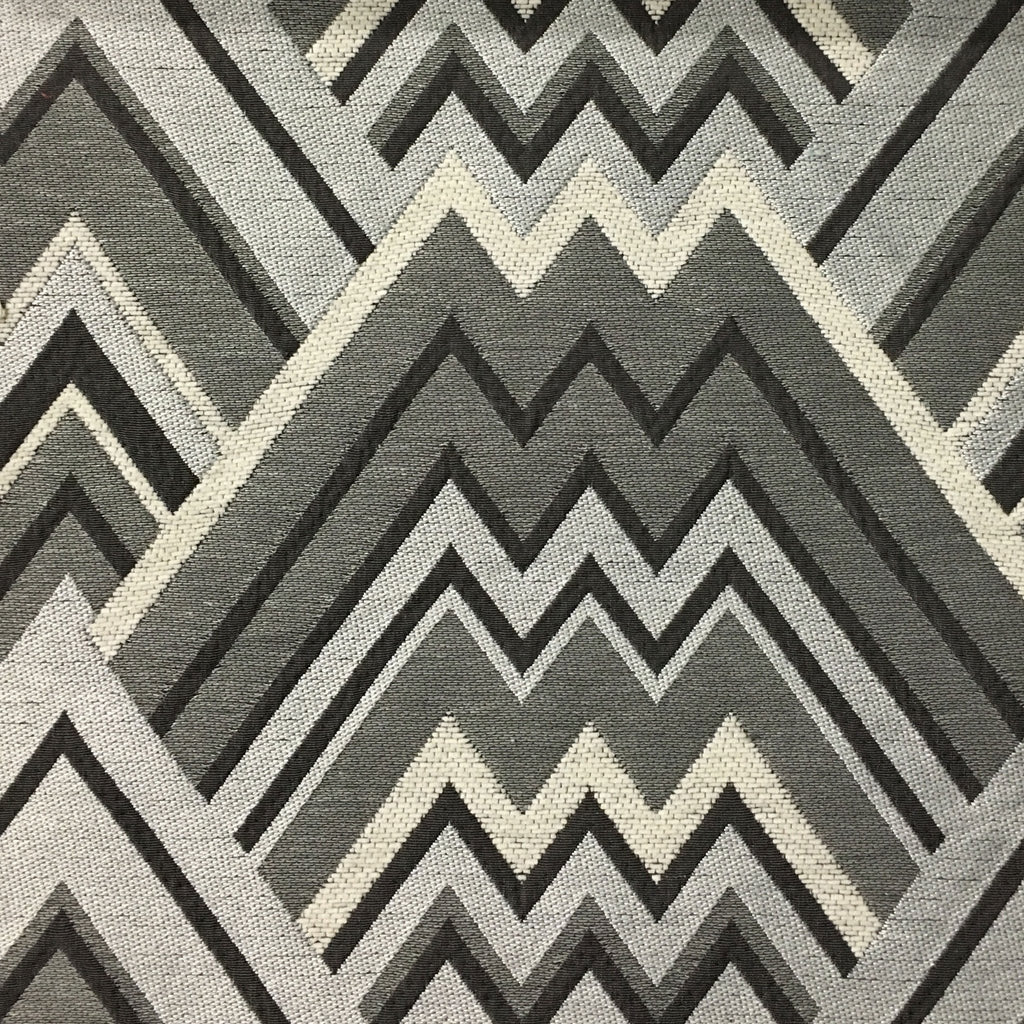 Mesa - Mixed Construction Geometric Pattern Cotton Blend Upholstery Fabric by the Yard - Available in 8 Colors - Glacier - Top Fabric - 1