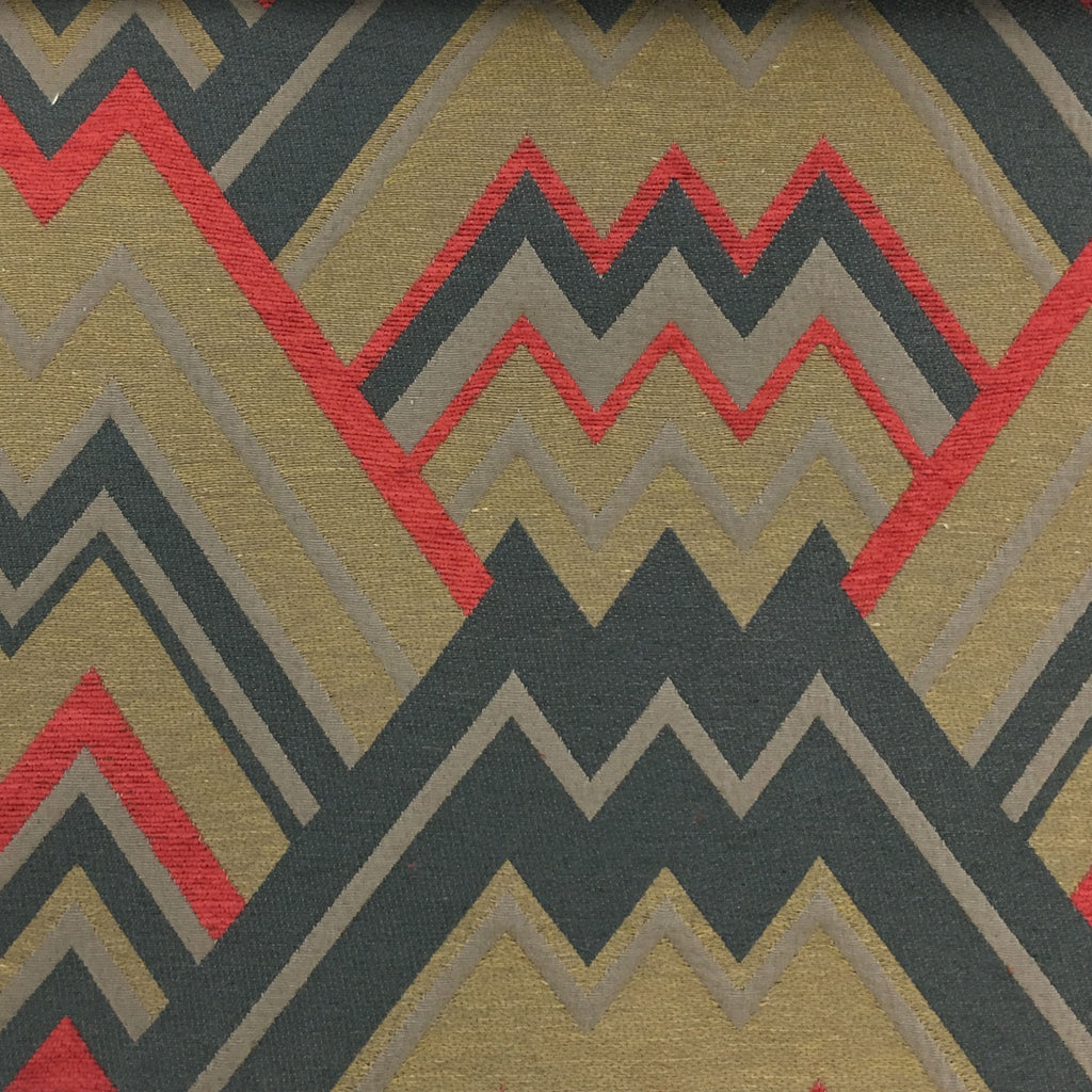 Mesa - Mixed Construction Geometric Pattern Cotton Blend Upholstery Fabric by the Yard - Available in 8 Colors - Sorbet - Top Fabric - 4