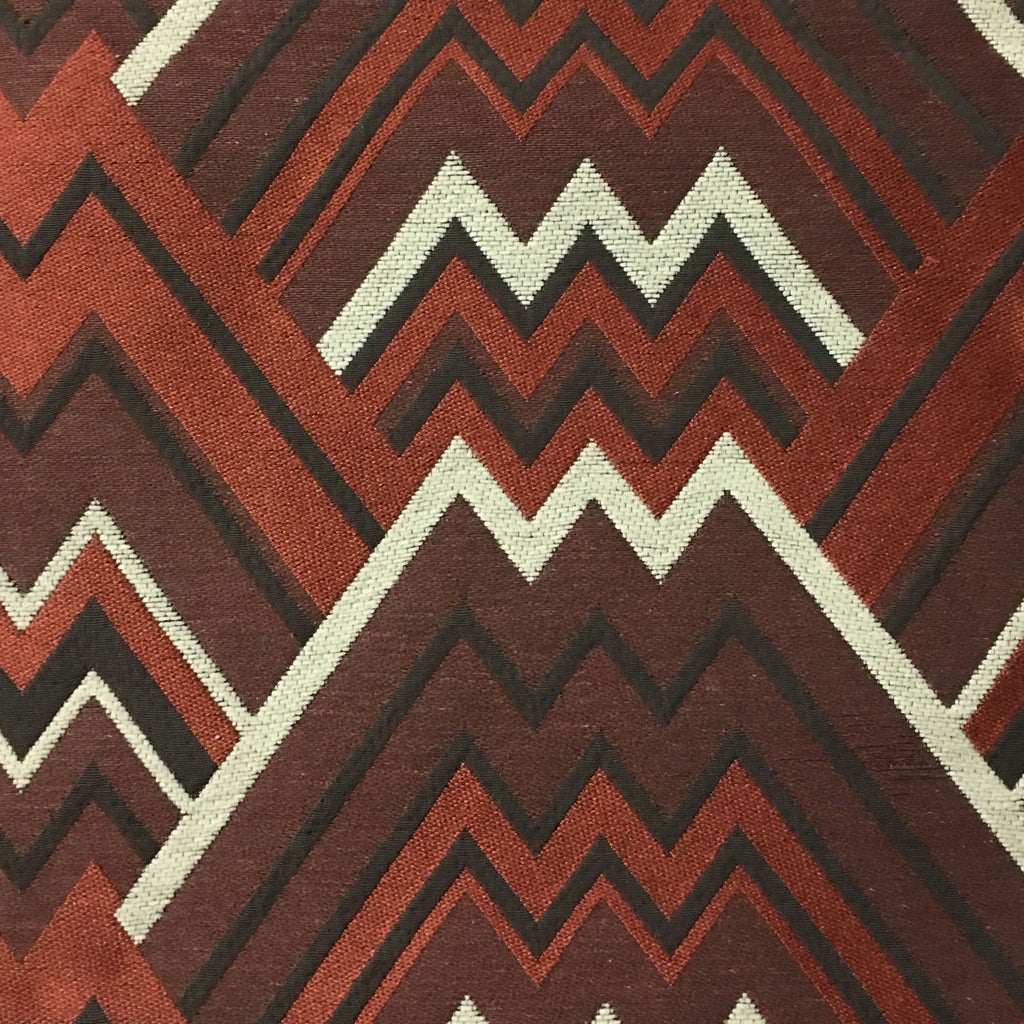 Mesa - Mixed Construction Geometric Pattern Cotton Blend Upholstery Fabric by the Yard - Available in 8 Colors - Sunset - Top Fabric - 5