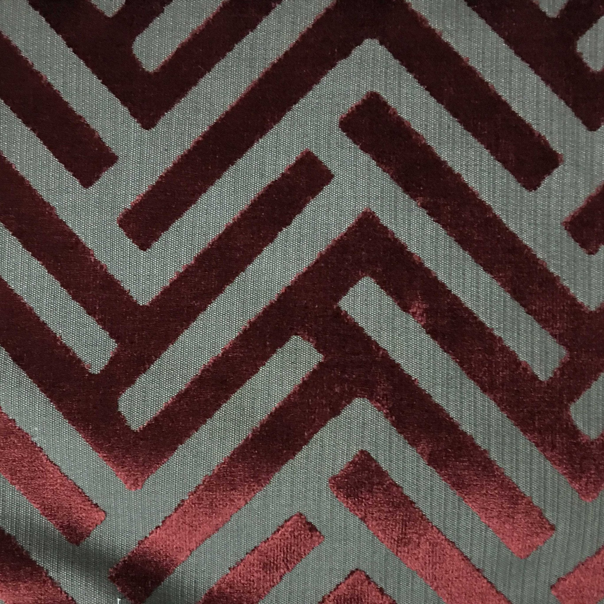 ministry geometric pattern cut velvet upholstery fabric by the yard ebay. Black Bedroom Furniture Sets. Home Design Ideas