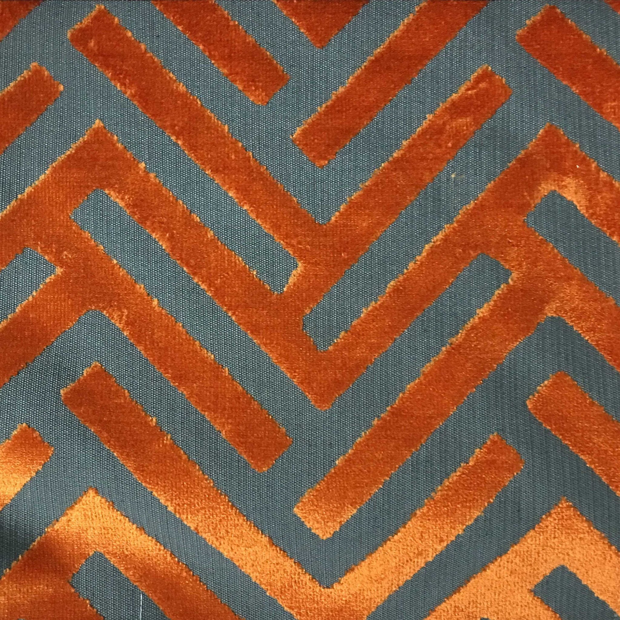 Ministry geometric pattern cut velvet upholstery fabric for Cloth by the yard