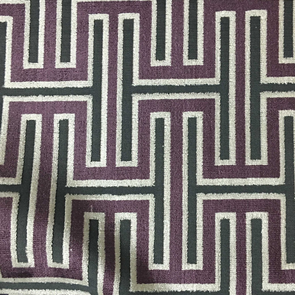 Muriel - Cut Velvet Fabric Drapery & Upholstery Fabric by the Yard - Available in 14 Colors - Fig - Top Fabric - 13