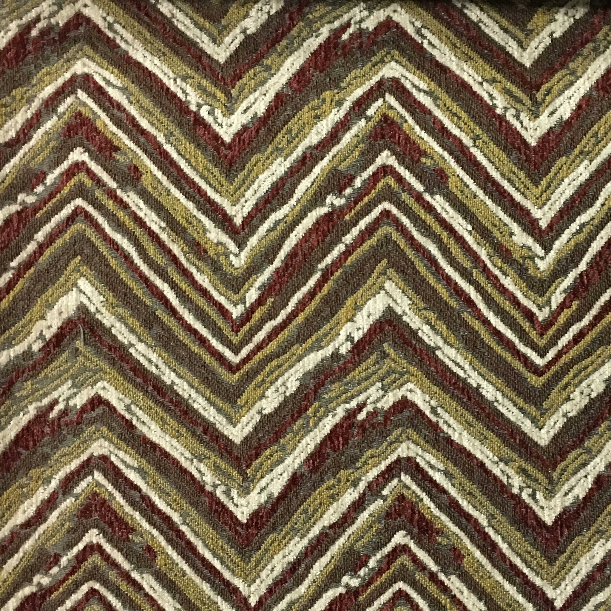 Norwich chevron pattern heavy chenille upholstery fabric for Patterned material for sale