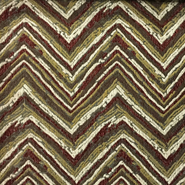 Norwich - Chevron Pattern Heavy Chenille Upholstery Fabric by the Yard - Available in 8 Colors - Zinc - Top Fabric - 1