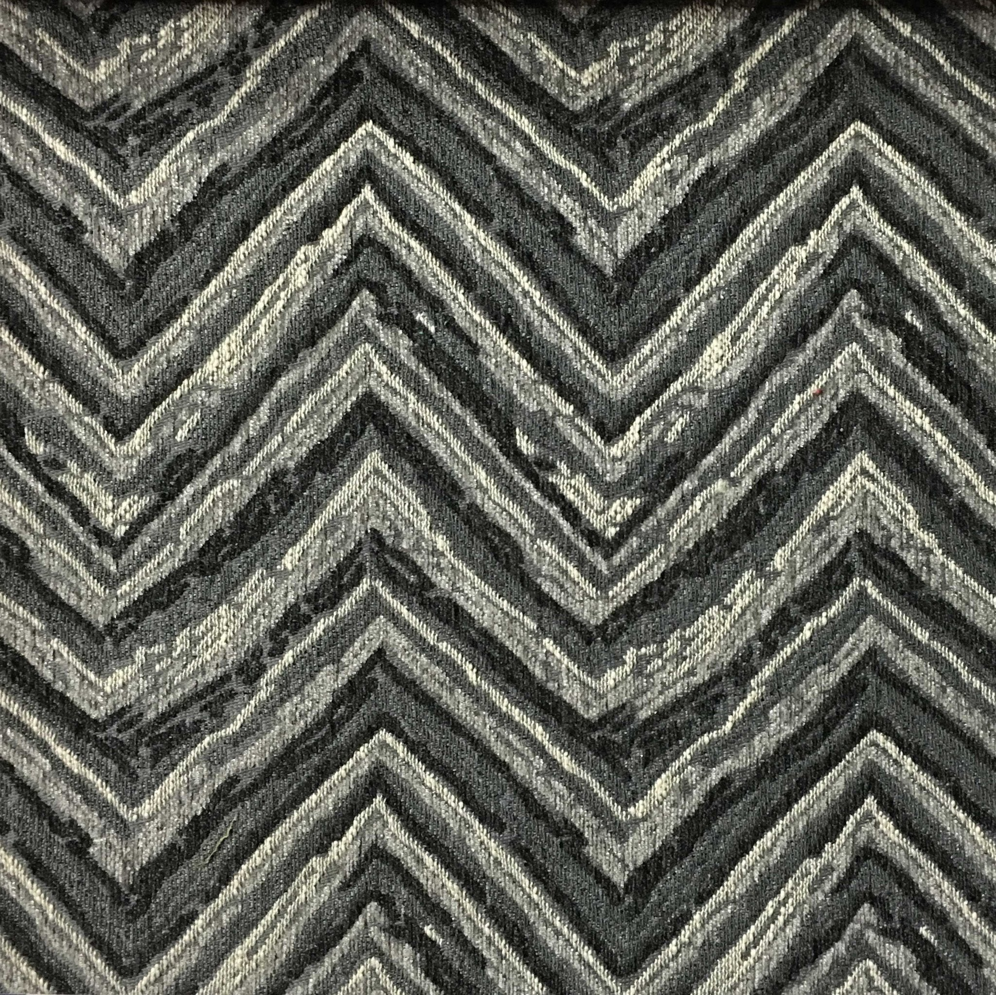 Norwich - Chevron Pattern Heavy Chenille Upholstery Fabric by the Yard