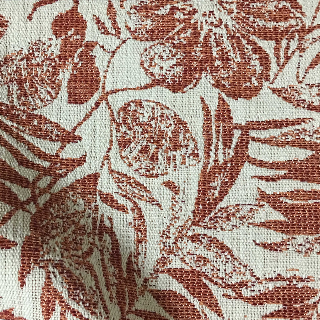 Oaks tropical pattern woven upholstery fabric by the for Fabric by the yard