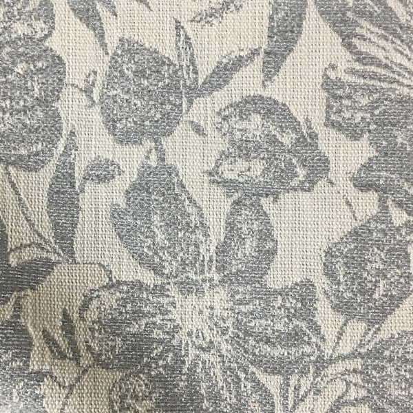 Oaks - Tropical Pattern Woven Texture Drapery & Upholstery Fabric by the Yard - Available in 6 Colors - Feather - Top Fabric - 1