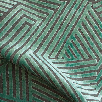 Aurora - Geometric Burnout Velvet Upholstery Fabric by the Yard - Available in 13 Colors