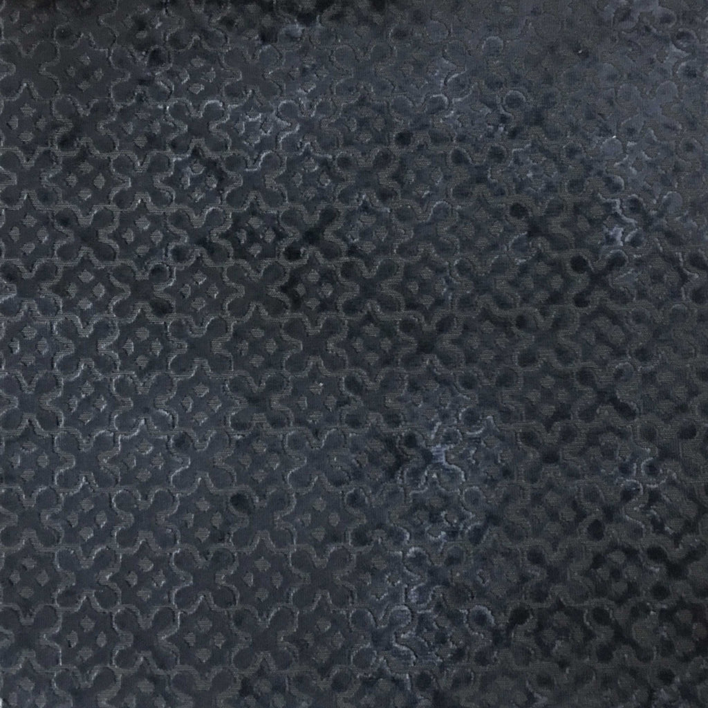 Paddington - Burnout Velvet Upholstery Fabric by the Yard - Available in 6 Colors - Navy - Top Fabric - 6