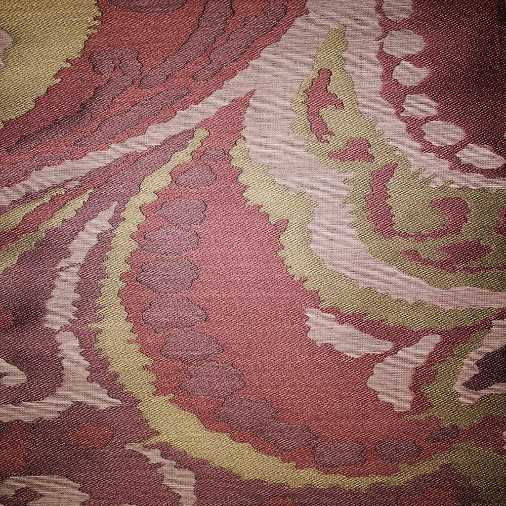 Greenwich - Jacquard Fabric Designer Pattern Home Decor Drapery Fabric by the Yard - Available in 11 Colors - Plum - Top Fabric - 3