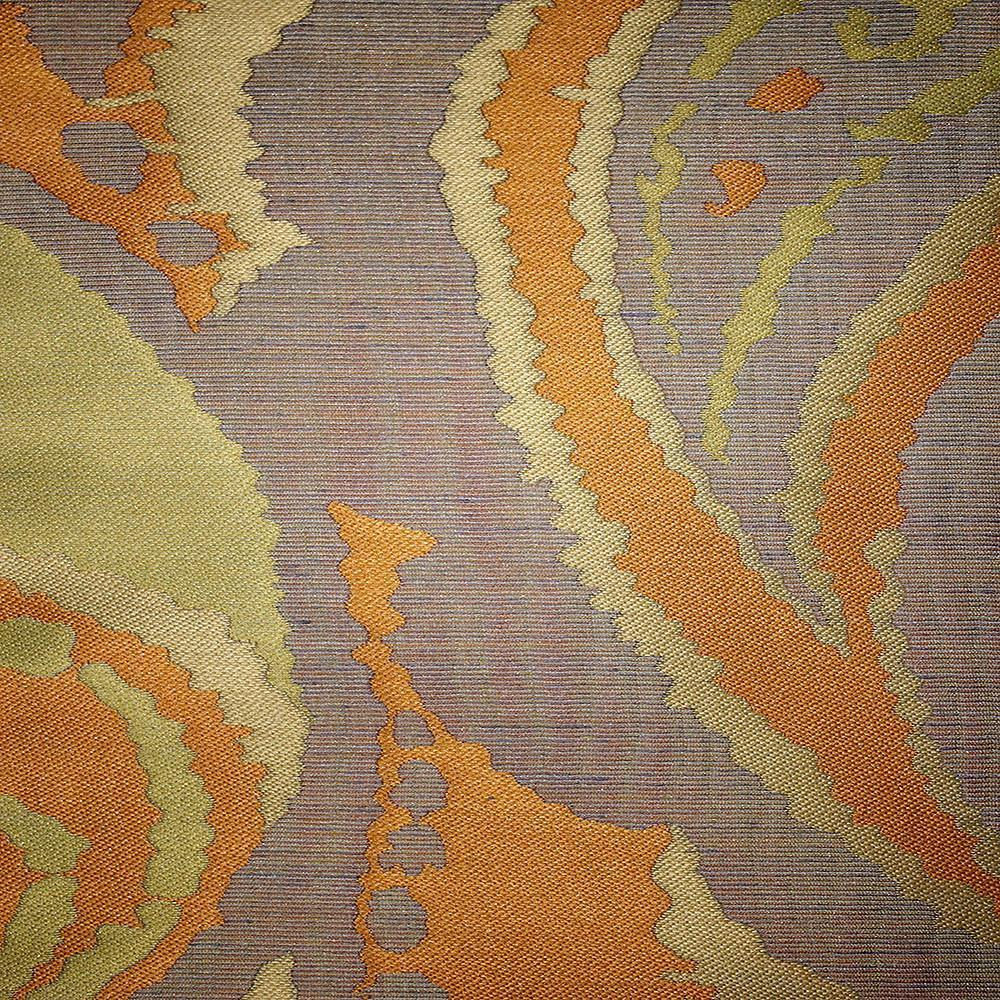Greenwich - Jacquard Fabric Designer Pattern Home Decor Drapery Fabric by the Yard - Available in 11 Colors - Saffron - Top Fabric - 6