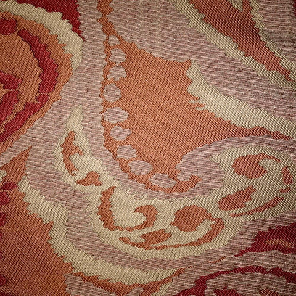 Greenwich - Jacquard Fabric Designer Pattern Home Decor Drapery Fabric by the Yard - Available in 11 Colors - Chili - Top Fabric - 4