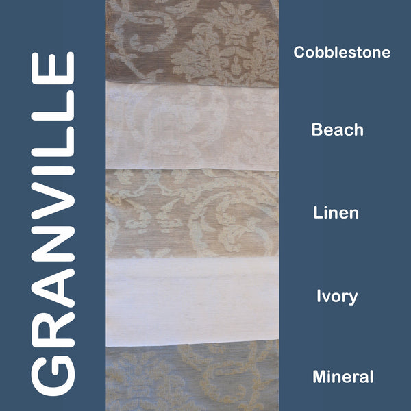 "Granville - 110"" Organza Fabric Window Curtain Drapery Fabric"