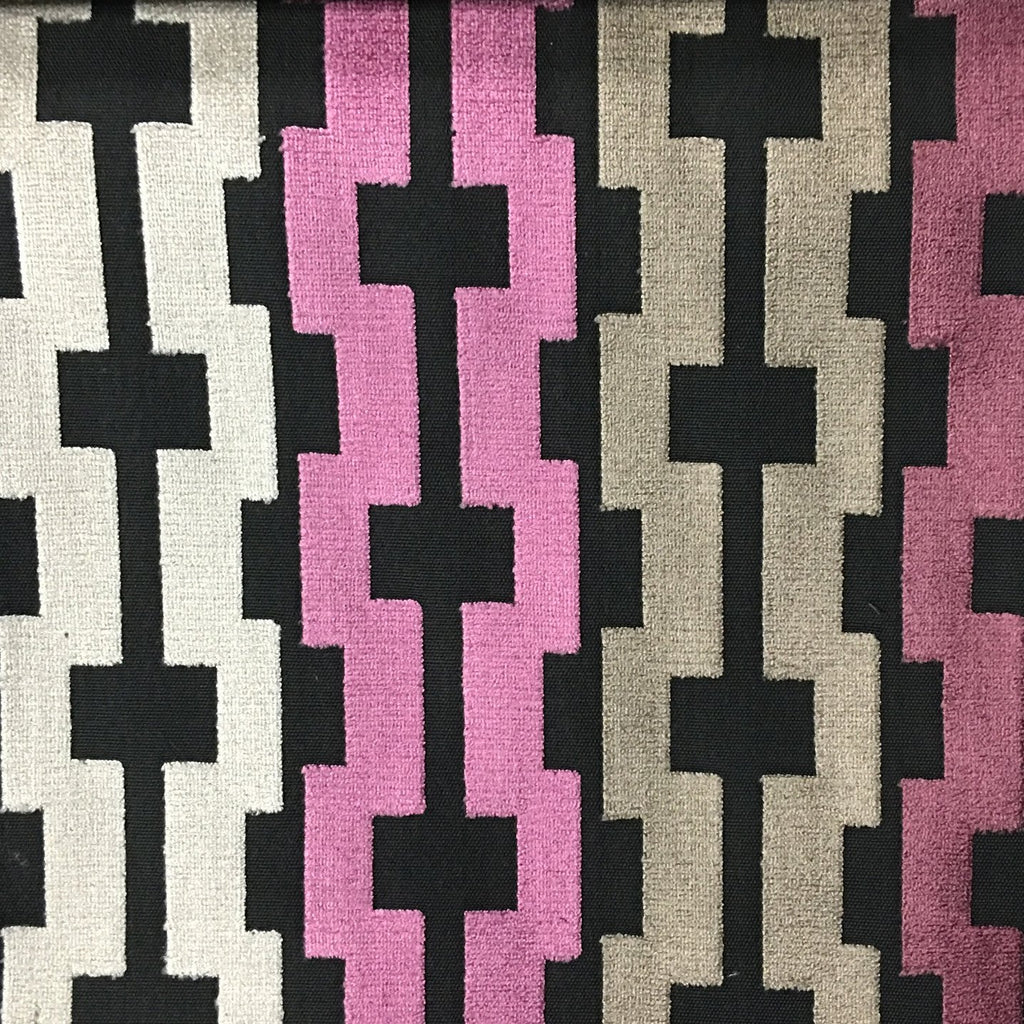 Piccadilly - Cut Velvet Upholstery Fabric by the Yard - Available in 13 Colors - Amethyst - Top Fabric - 13
