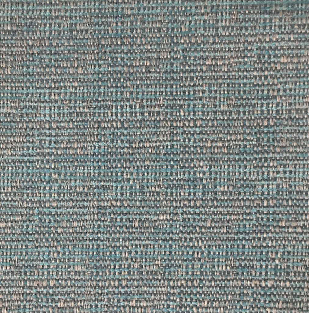 Pimlico - Textured Chenille Upholstery Fabric by the Yard - Available in 20 Colors - Aqua - Top Fabric - 15