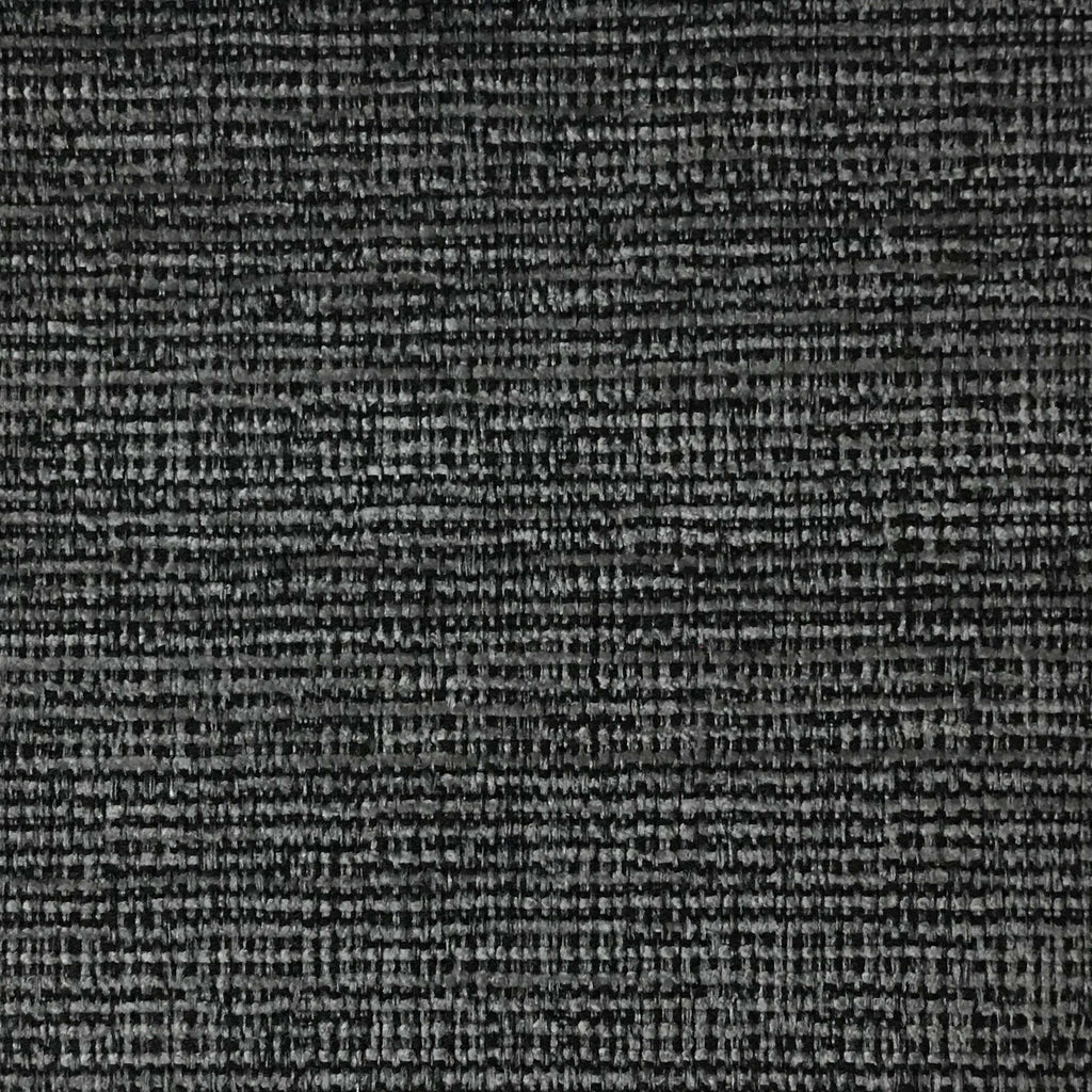 Pimlico - Textured Chenille Upholstery Fabric by the Yard - Available in 20 Colors - Charcoal - Top Fabric - 10