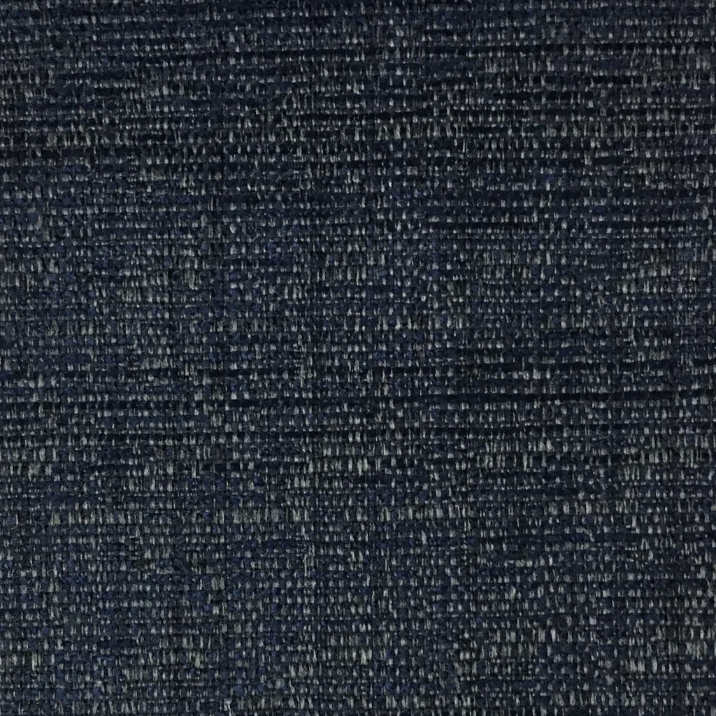 Pimlico - Textured Chenille Upholstery Fabric by the Yard - Available in 20 Colors - Navy - Top Fabric - 9