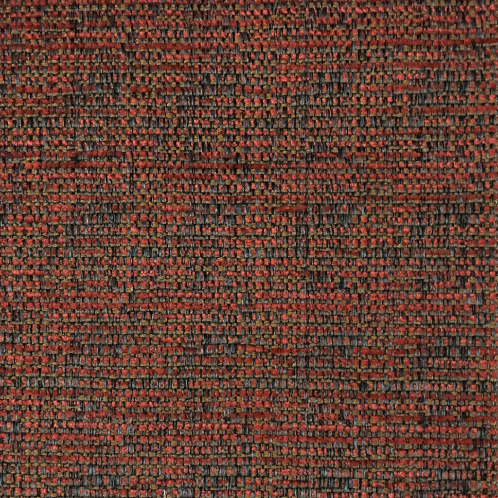 Pimlico - Textured Chenille Upholstery Fabric by the Yard - Available in 20 Colors - Satsuma - Top Fabric - 16