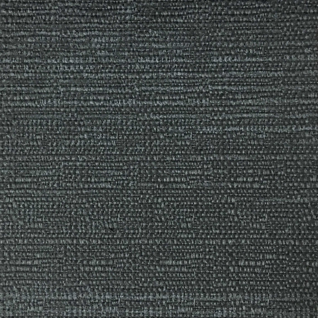 Pimlico - Textured Chenille Upholstery Fabric by the Yard - Available in 20 Colors - Thunder - Top Fabric - 13