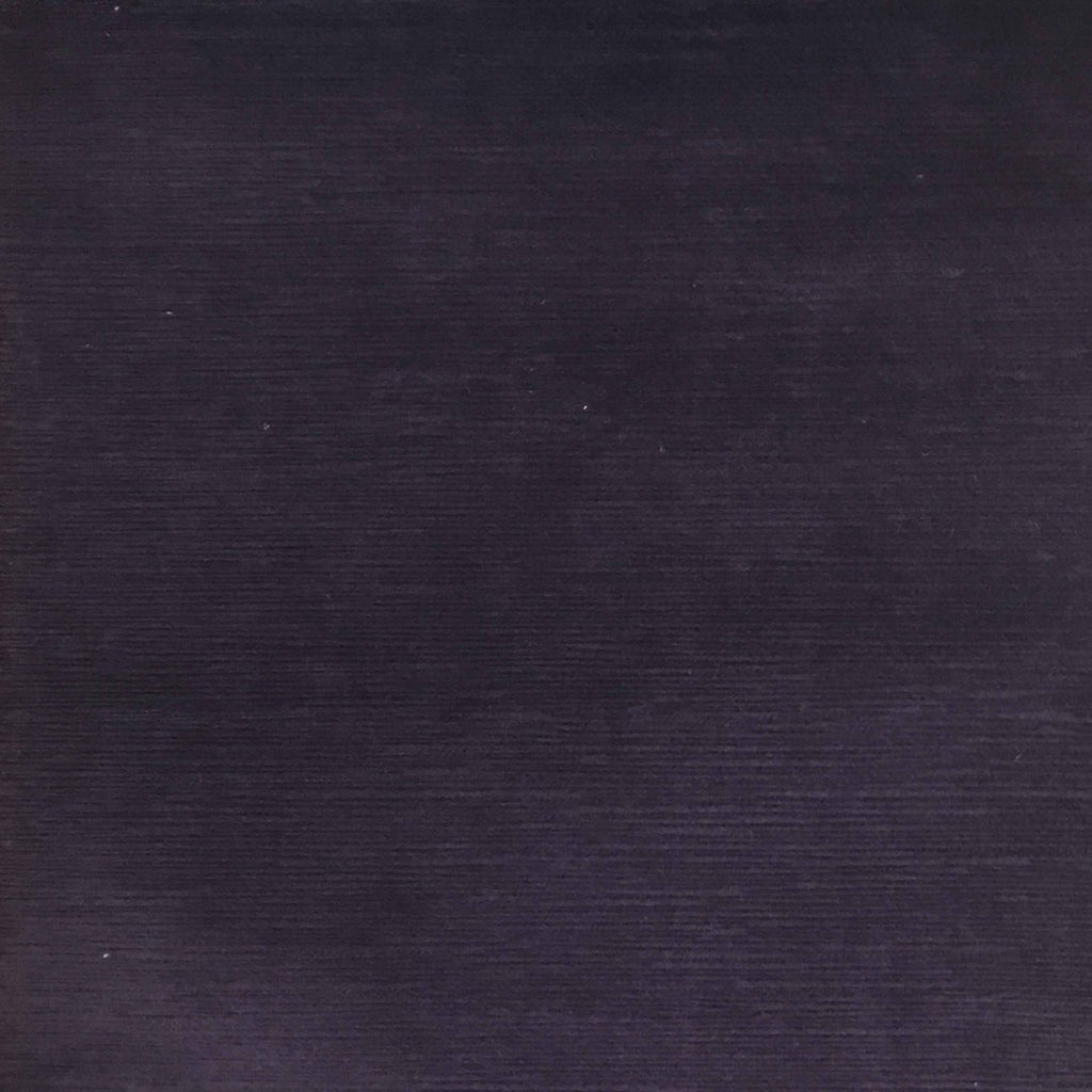 Pond - Strie Textured Microfiber Slubbed Velvet Fabric Upholstery Fabric by the Yard - Available in 40 Colors - Aubergine - Top Fabric - 15