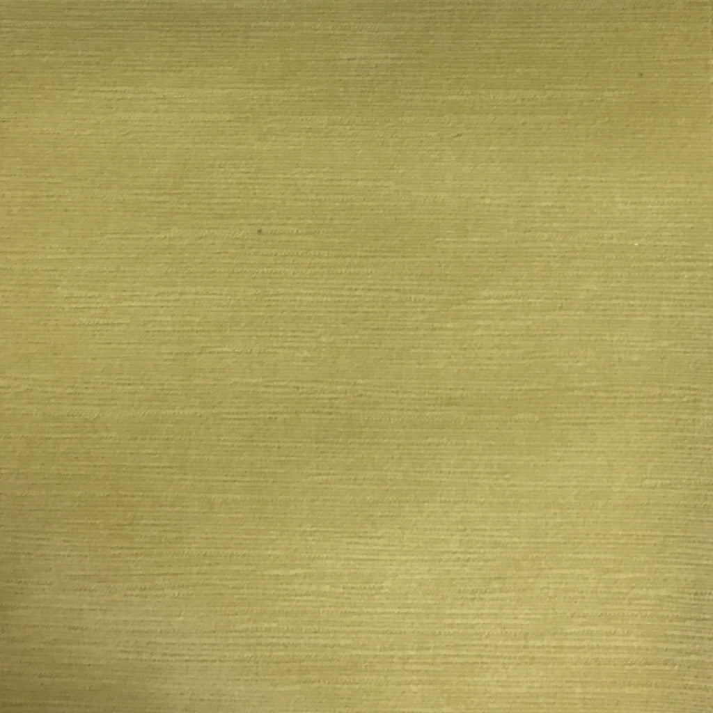 Pond - Strie Textured Microfiber Slubbed Velvet Fabric Upholstery Fabric by the Yard - Available in 40 Colors - Citron - Top Fabric - 6